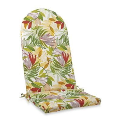 Adirondack Cushion with Ties in Leaf