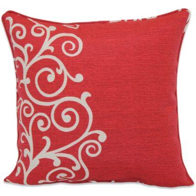 Outdoor Throw Pillow in Shoulder Stripe