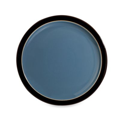 Denby Duets Salad/Dessert Plate in Black/Blue