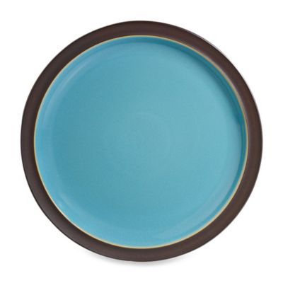 Denby Duets Dinner Plate in Brown/Turquoise