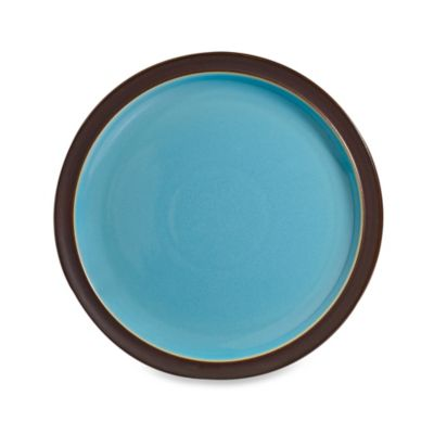 Denby Duets Salad/Dessert Plate in Brown/Turquoise