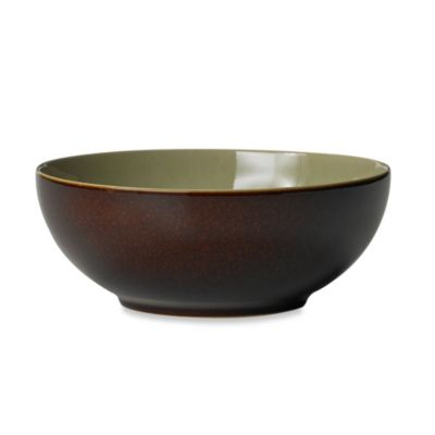 Denby Duets Soup/Cereal Bowl in Chestnut/Apple