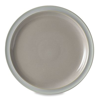 Denby Duets Dinner Plate in Taupe/Blue