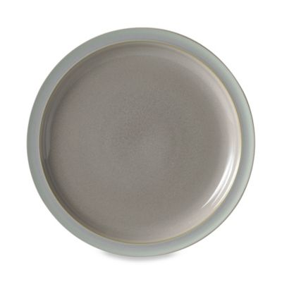 Denby Duets Salad/Dessert Plate in Taupe/Blue