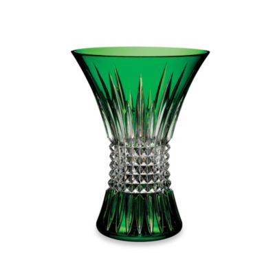 Waterford Lismore Diamond 8-Inch Crystal Vase in Emerald