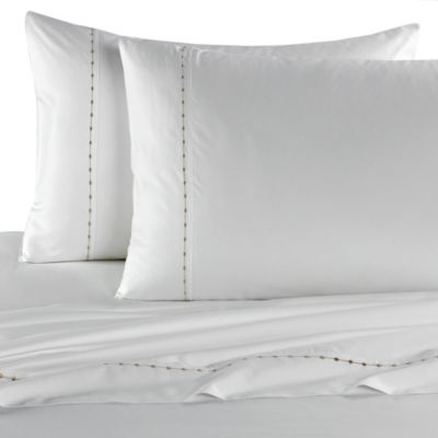 Barbara Barry Dream Pearls Queen Flat Sheet in White