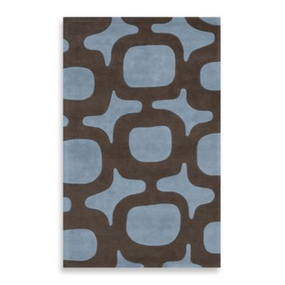 Rugs America Millennium 2-Foot 3-Inch x 8-Foot Runner in Cayman Blue