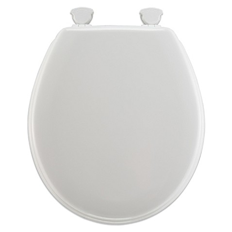 Buy Mayfair Round Molded Wood Toilet Seat With Plastic Hinge In White From Be