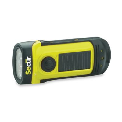 Secur Solar/Dynamo-Powered Waterproof LED Flashlight