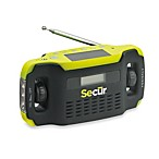 Secur Digital Solar/Dynamo Radio and LED Flashlight