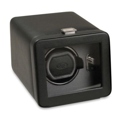 Wolf Designs® Module 2.5 Windsor Single Winder with Cover in Black