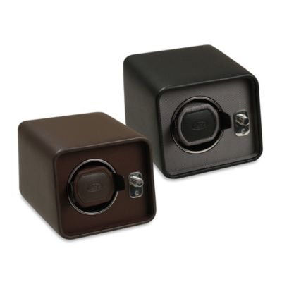 Wolf Designs Windsor Module 2.5 Single Travel Watch Winder in Brown