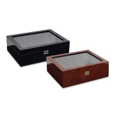 Wolf Designs® Savoy 10-Piece Watch Box in Black