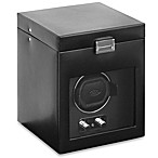 Wolf Designs Module 2.1 Heritage Single Watch Winder with Black Cover and Storage
