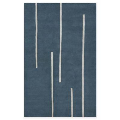 Rugs America Millennium 2-Foot 3-Inch x 8-Foot Runner in Toronto Blue