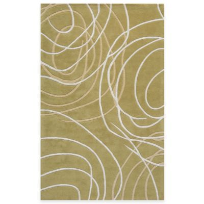 Rugs America Millennium 4-Foot x 6-Foot Rug in Rainforest Dew
