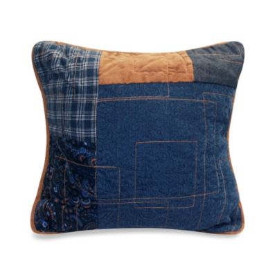 Donna Sharp Denim Square 15-Inch Decorative Pillow