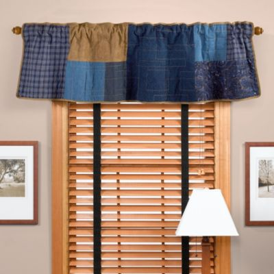 Donna Sharp Denim Square Window Valance