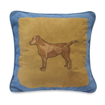 Donna Sharp Denim Square Dog Throw Pillow