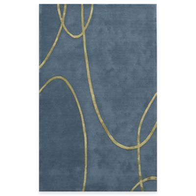 Rugs America Millennium 4-Foot x 6-Foot Rug in Electric Blue
