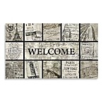 Masterpiece-Passport Recycled Rubber 18-Inch x 30-Inch Doormat in Grey/Black