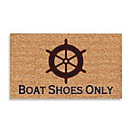 DeCoir® Boat Shoes Only 17.5-Inch x 29.5-Inch Doormat in Brown/Blue