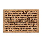 DeCoir® Bigger Impression 17.5-Inch x 19.5-Inch Doormat in Black/Tan