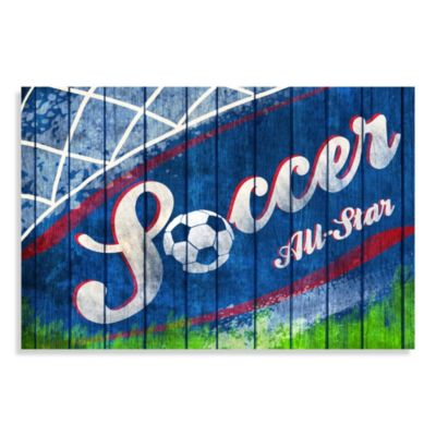 All Star Soccer Canvas Wall Art