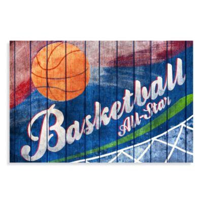All Star Basketball Canvas Wall Art