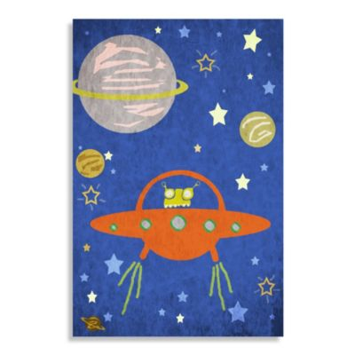 Space Alien Canvas Wall Art