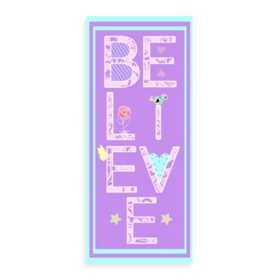 Believe Canvas Wall Art