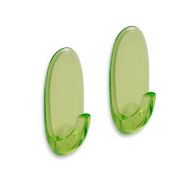Command™ Clear/Green Medium Hooks (Set of 2)