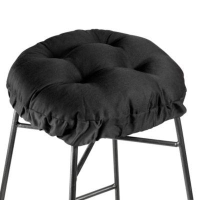 Klear Vu Twill Barstool Cover in Black