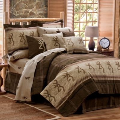 Browning Buckmark Full Comforter Set in Brown