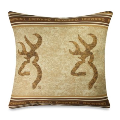 Browning Buckmark 18-Inch Square Pillow
