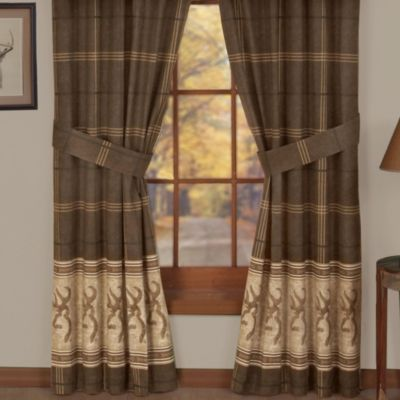 Cotton Brown Window Panel
