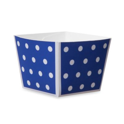 Cube Paper Baking Cups in Blue (Set of 12)