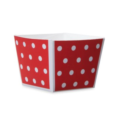 Cube Paper Baking Cups in Red/White (Set of 12)