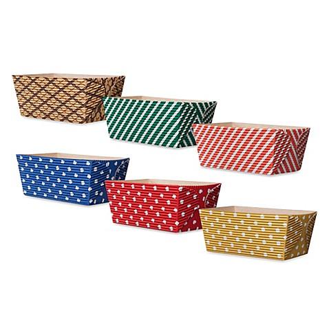 Oven Safe Paper 4 5 Inch Rectangular Loaf Pans Set Of 6