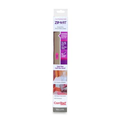 Zip-N-Fit™ by Con-Tact® Solid Grip Shelf/Drawer Liner in Clear