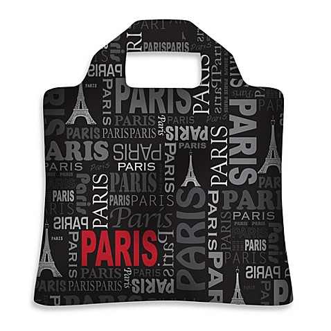 inSAK Paris Reusable Shopper in Black