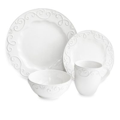 American Atelier Mina 16-Piece Dinnerware Set in White