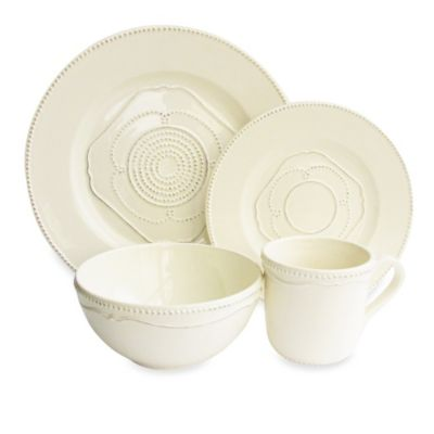 American Atelier Gabrielle 16-Piece Dinnerware Set in Cream