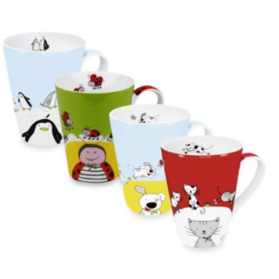 Konitz Globetrotter Animals Mugs (Set of 4)