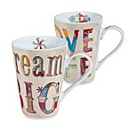 Dream Big and Love Life Mugs (Set of 2)