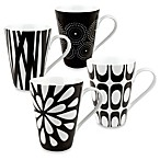 Konitz Black and White Mugs (Set of 4)