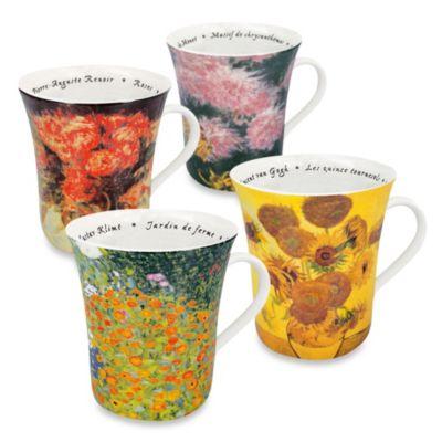Konitz Les Fleurs Chez Mugs (Set of 4)