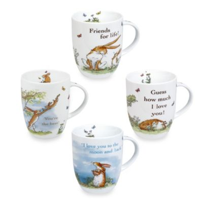 Konitz Guess How Much I Love You Mugs (Set of 4)