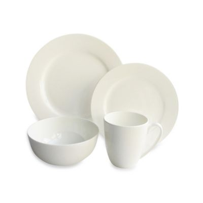 Bone China Classique Rim 16-Piece Dinnerware Set