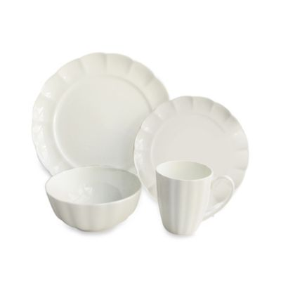 Scallop Bone 16-Piece Dinnerware Set